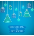 The Christmas card vector image vector image