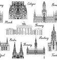 travel seamless pattern germany background famous vector image