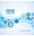 Various Gears With Cogwheels Background vector image vector image