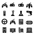 video game controller joystick gamepad icon vector image vector image