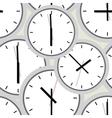 Wall clock Seamless vector image vector image