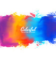 watercolor background hand paint splash in many