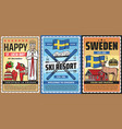 welcome to sweden swedish culture and travel vector image vector image