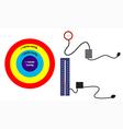 Target blood pressure and sphygmomanometer vector image