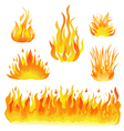 fire and flames set vector image