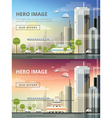 set of website hero images in flat design style vector image