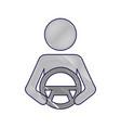 driver at steering wheel autonomous design vector image