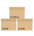 Three boxes vector image
