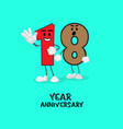 18 number cute year anniversary celebration