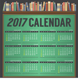 2017 Printable Calendar Starts Sunday vector image vector image