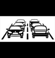 a traffic jam on the road vector image