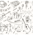 Abstract Music seamless pattern with musical vector image vector image