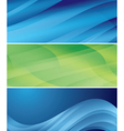 abstract wavy headers - set vector image vector image