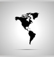 america with greenland silhouette simple black vector image