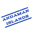 Andaman Islands Watermark Stamp vector image vector image