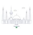 ashgabat city skyline vector image vector image