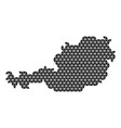 austria map abstract schematic from black vector image vector image