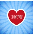 Beautiful card on Valentines day vector image vector image