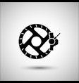 bicycle disc brake bicycle accessories icon vector image vector image