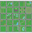 big green flat city for game vector image vector image
