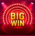 Big win casino signboard game banner design