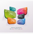 business design template with bright 3d petals vector image vector image