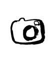 camera grunge icon photocamera dry brush vector image vector image