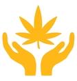 Cannabis Care Icon vector image vector image
