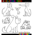 Cartoon Dogs or Puppies for Coloring Book vector image vector image