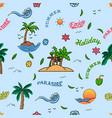 cheerful summer holiday seamless pattern vector image vector image
