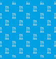 chemical process pattern seamless blue vector image