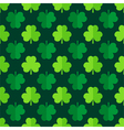 Clover shamrock leaves seamless pattern vector image vector image