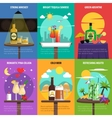 Cocktail Poster Set vector image vector image