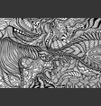 coloring page abstract pattern maze line vector image vector image