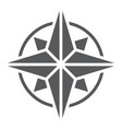 compass glyph icon navigator and geography vector image vector image