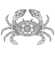 crab coloring book vector image