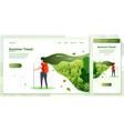 crossplatform set tourist girl vector image vector image