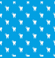 dentistry pattern seamless blue vector image vector image