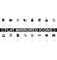 documents - flat icons vector image vector image