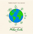 earth day of eco friendly activities vector image vector image