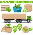Ecology Icons Set 4 vector image vector image