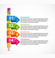 educational infographics template with colored vector image vector image