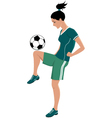 Female football player vector image vector image