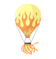 flat hot air-balloon cartoon vector image vector image