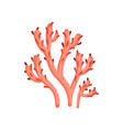 flat icon of bright red soft coral plant vector image