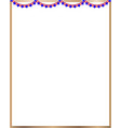 frame american flag garland vector image vector image
