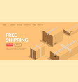 free shipping logistics company or shop service vector image vector image