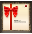 Gift envelope with a bow in box vector image vector image