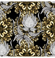 golden pattern on black white and beige colors vector image