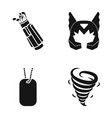 golf clubs mask and other web icon in black style vector image vector image